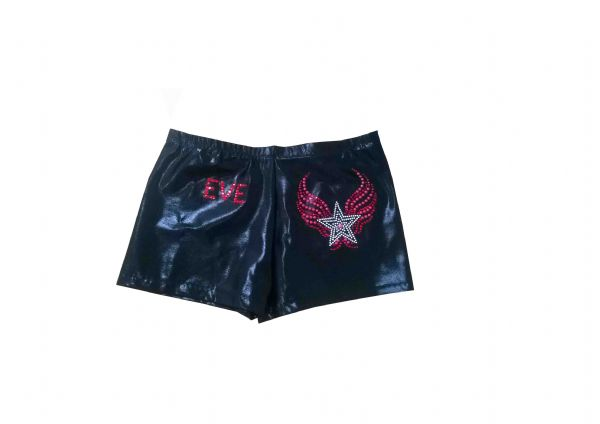 EARL127 Plain and Personalised Metallic and Velour Shorts With Star Motif  From £18.95